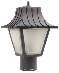 13-1/2 in. Non-Metallic LED Outdoor Post-Top Fixture Lighting in Black