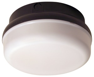 9-3/8 in. 14W Outdoor LED Ceiling Mount Fixture in Black