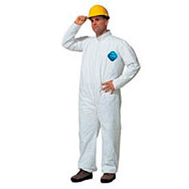 TY120SWHXL002500 Dupont;Tyvek; Disposable Coverall with Open Ended Wrists/Ankles, XL, Case Of 25