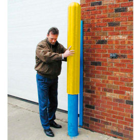 "1732 Eagle Ribbed Bollard Post Sleeve 4"" Yellow, 1732-YL"