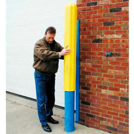 "1738 Eagle Ribbed Bollard Post Sleeve 8"" Yellow, 1738-YL"