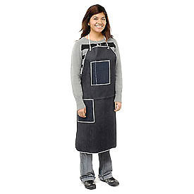 "A2836D4 Denim Apron With 2 Pockets, 28"" x 36"""