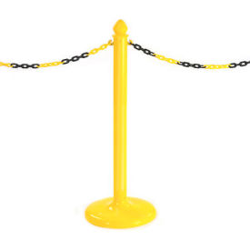 822022Y Pedestrian Barrier Chain Type Post Non-Reflective With Base
