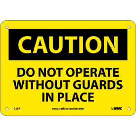 "C15R Safety Signs - Caution Do Not Operate - Rigid Plastic 7""H X 10""W"