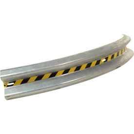 GR-8-CRV Bolt-On Curved Galvanized Guard Rail 8 Ft X 61 Inch Radius