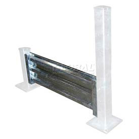 GGR-LO-8 Galvanized Structural Guard Rail 8 Ft. Drop-in Style