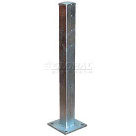"GGR-TP42 Galvanized Structural Guard Rail Post 42"" H"