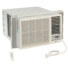 653537-LG Window Air Conditioner with Remote Control LW1816HR, 18,000 BTU Cool 12,000 BTU Heat  230/208V