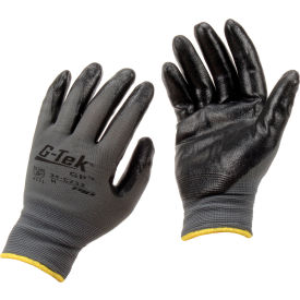 34-C232/M PIP; G-Tek; GP; Nitrile Coated Nylon Grip Gloves, Medium, 12 Pairs