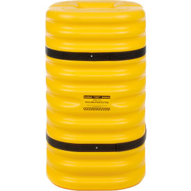 "1709 Eagle Column Protector, 9"" Round Opening, 42"" High, Yellow with Black Straps, 1709"