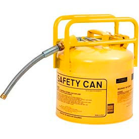 "1215Y Eagle D.O.T. Approved Transport Can w/7/8"" Flexible Hose Type II Yellow 5 Gal., 1215Y"