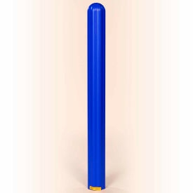 "1732BLUE Eagle Ribbed Bollard Post Sleeve 4"" Blue, 1732BLUE"