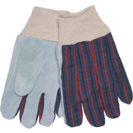 1040 Memphis; Clute Pattern Leather Palm Gloves with Knit Wrist, Size L, 1 Dozen