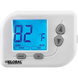 WT030 Programmable Thermostat, Heat, Cool, Off Mode, 5-1-1 Programmable
