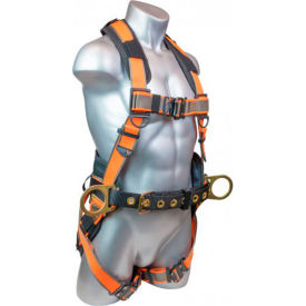 warthog maxx® b2202-3 full body harness w/d-ring, quick connect legs, l, 310 lbs capacity