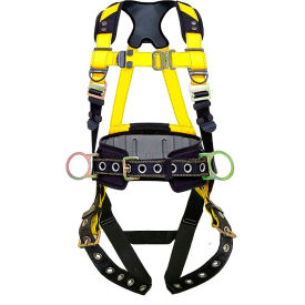 guardian series 3 harness with waist pad, tie back legs, 3 d-rings, m-l