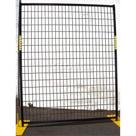 welded wire black powder coat fence - 5wx6h 4 panel kit Welded Wire Black Powder Coat Fence - 5Wx6H 4 Panel Kit