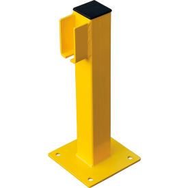 "global industrial™ steel lift-out guard rail end post, single-rail, 20""h, yellow Global Industrial™ Steel Lift-Out Guard Rail End Post, Single-Rail, 20""H, Yellow"