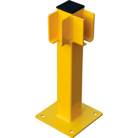 "global industrial™ steel lift-out guard rail corner post, single-rail, 20""h, yellow Global Industrial™ Steel Lift-Out Guard Rail Corner Post, Single-Rail, 20""H, Yellow"