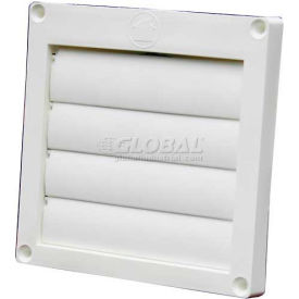 EX-HLFW 04 Speedi-Products Louvered Plastic Flush Hood EX-HLFW 04 White No Tailpipe 4""