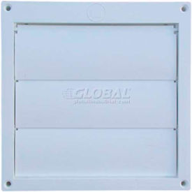 EX-HLFW 06 Speedi-Products Louvered Plastic Flush Hood EX-HLFW 06 White No Tailpipe 6""