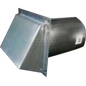 SM-RWVD 5 Speedi-Products Galvanized Wall Caps With Spring Damper SM-RWVD 5 5""