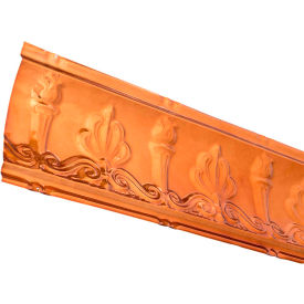"great lakes tin 48"" superior tin crown molding in copper - 194-08 Great Lakes Tin 48"" Superior Tin Crown Molding in Copper - 194-08"