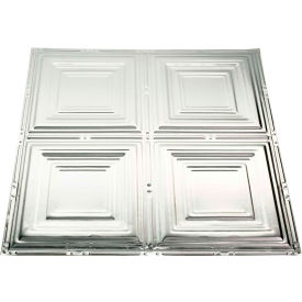great lakes tin syracuse 2 x 2 lay-in tin ceiling tile in clear - y50-04 Great Lakes Tin Syracuse 2 X 2 Lay-in Tin Ceiling Tile in Clear - Y50-04