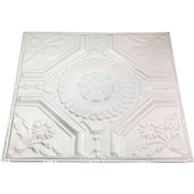 great lakes tin rochester 2 x 2 lay-in tin ceiling tile in antique white - y58-02 Great Lakes Tin Rochester 2 X 2 Lay-in Tin Ceiling Tile in Antique White - Y58-02