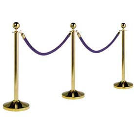 "securit®barrier system, portable, 15"" dia x 40, post & base, gold plated Securit®Barrier System, Portable, 15"" Dia X 40, Post & Base, Gold Plated"