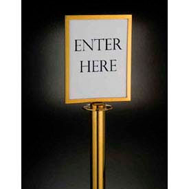 barrier system sign, 8-1/2x11, gold tone - min qty 3 Barrier System Sign, 8-1/2x11, Gold Tone - Min Qty 3