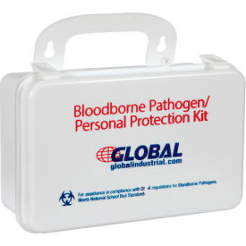 59432 Global Industrial Small Industrial Bloodborne Pathogens Kit with CPR Mask, Weatherproof
