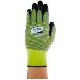 205745 HyFlex; Cut Resistant Gloves, Ansell 11-510, Black Nitrile Palm Coat, Size 8, 1 Pair