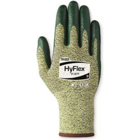 205751 HyFlex; Cut Resistant Gloves, Ansell 11-511, Green Nitrile Palm Coat, Size 8, 1 Pair