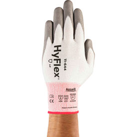 288186 HyFlex; Cut Protection Gloves, Ansell 11-644, Gray PU Palm Coat, Size 9, 1 Pair