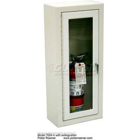potter roemer alta steel fire extinguisher cabinet, tempered glass window, surface mt.   Potter Roemer Alta Steel Fire Extinguisher Cabinet, Tempered Glass Window, Surface Mt.