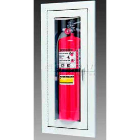 potter roemer loma steel fire extinguisher cabinet, full acrylic window, semi-recessed   Potter Roemer Loma Steel Fire Extinguisher Cabinet, Full Acrylic Window, Semi-Recessed