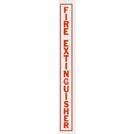 LDVRFE Fire Extinguisher Vertical Decal FE Lettering On Clear Film, Red
