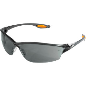 LW212 MCR Safety LW212 Law; 2 Safety Glasses, Orange Temple Inserts, Gray Lens