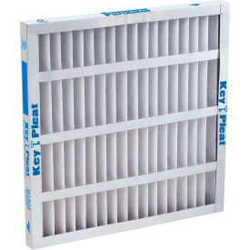 "purolator® key pleat™ pleated air filter, merv 7, self-supported, 16""wx25""hx1""d"