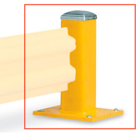 "4226000 WILDECK Wilgard Two-Rib Protective Railing System - Standard Post - Single Post - 18"" H"