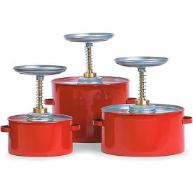 "P-701 Eagle Steel Plunger Cans - 6-1/4"" Dia.X8""H - 1-Quart Capacity"