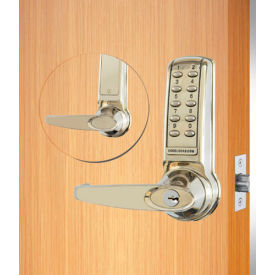 codelocks electronic leverset, cl4210-ss, key override for lighter doors, stainless steel Codelocks Electronic Leverset, CL4210-SS, Key Override for Lighter Doors, Stainless Steel