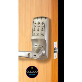 codelocks ansi grade 2 heavy duty electronic tubular lockset, cl5210-bs, brushed steel Codelocks ANSI Grade 2 Heavy Duty Electronic Tubular Lockset, CL5210-BS, Brushed Steel