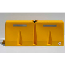 TB5-14 Diversified Plastics 5L Traffic Barrier, Polyethylene, Yellow
