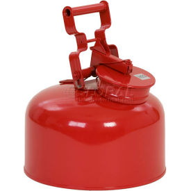 1423 Eagle Disposal Can Galvanized - Red - 2.5 Gallons, 1423