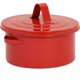 B-602 Eagle Bench Can - Metal - Red - 2 qt., B-602