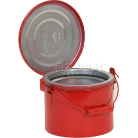 B-604 Eagle Bench Can - Metal - Red - 4 qt., B-604