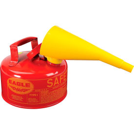 UI-10-FS Eagle Type I Safety Can - 1 Gallon with Funnel - Red, UI-10-FS