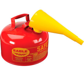 UI-20-FS Eagle Type I Safety Can - 2 Gallon with Funnel - Red, UI-20-FS